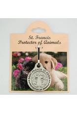 McVan Saint Francis Protector of Animals Pet Medal (Zinc)