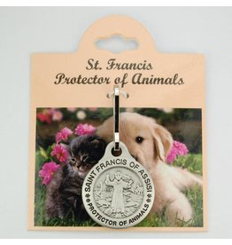 McVan Saint Francis Protector of Animals Pet Medal (Zinc)