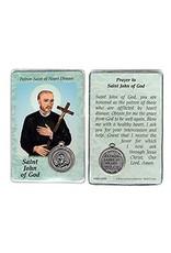 Lumen Mundi Healing Card - St John of God Card with Medal