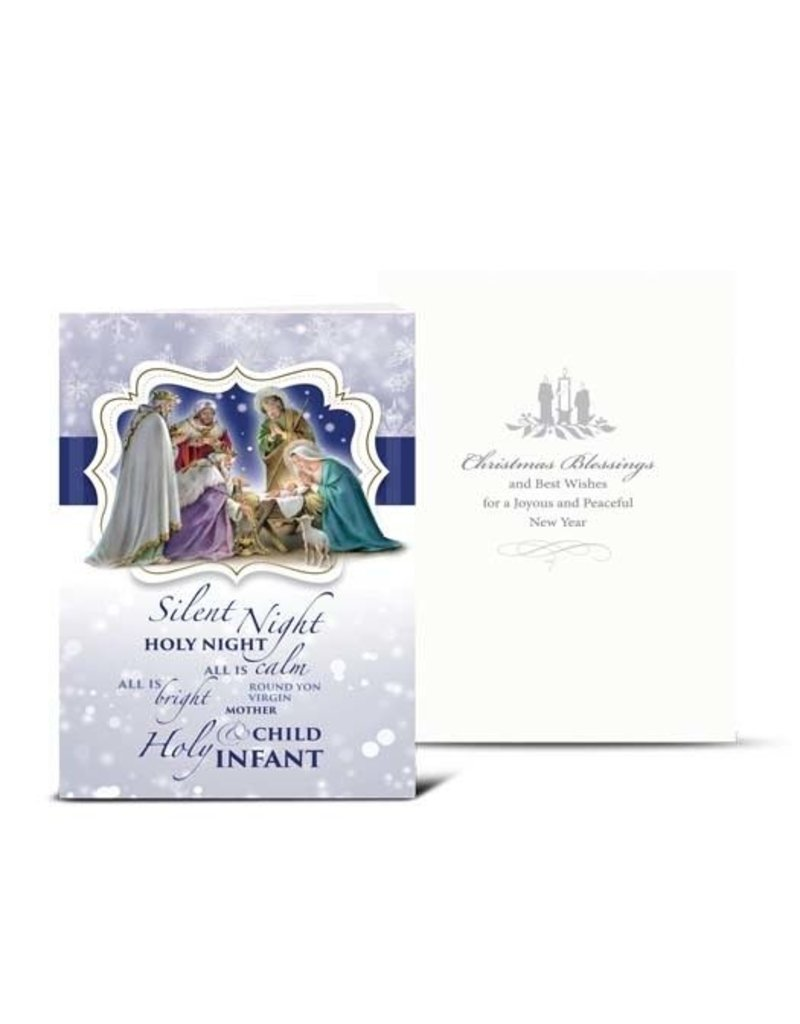 WJ Hirten Box of 10 Nativity Silent Night Christmas Cards