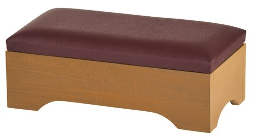Christian Brands Personal Kneeler with Storage - Pecan