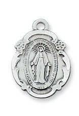 """McVan Pewter Miraculous Medal with 18"""" Chain"""