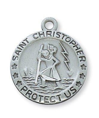 McVan Pewter St. Christopher Medal Necklace