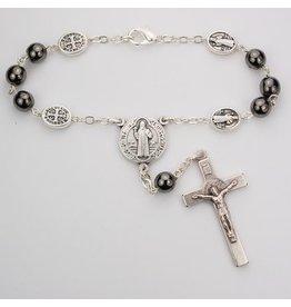 McVan Hematite St. Benedict Auto Rosary
