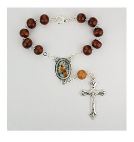 McVan Brown Wood St. Christopher Auto Rosary