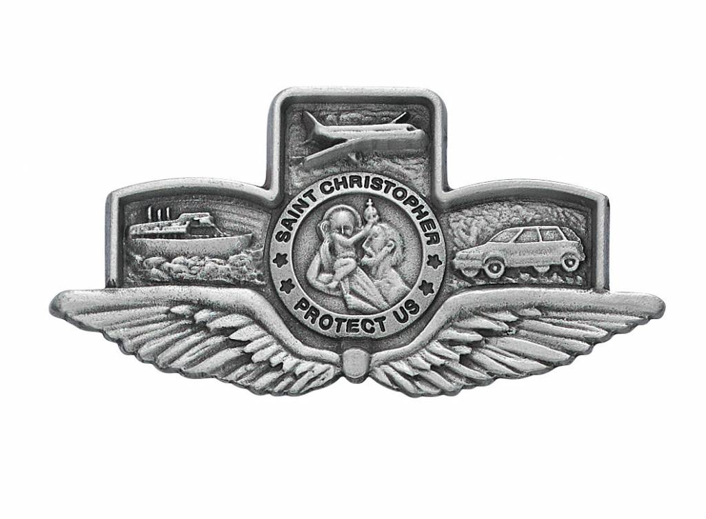 McVan St. Christopher and Wings Visor Clip