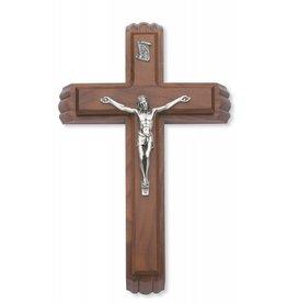 "McVan 13"" Walnut Crucifix Sick Call Set"