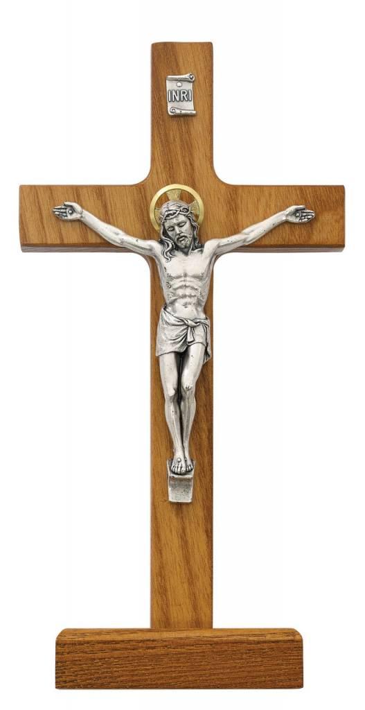 "McVan 8"" Stained Walnut Standing Crucifix"