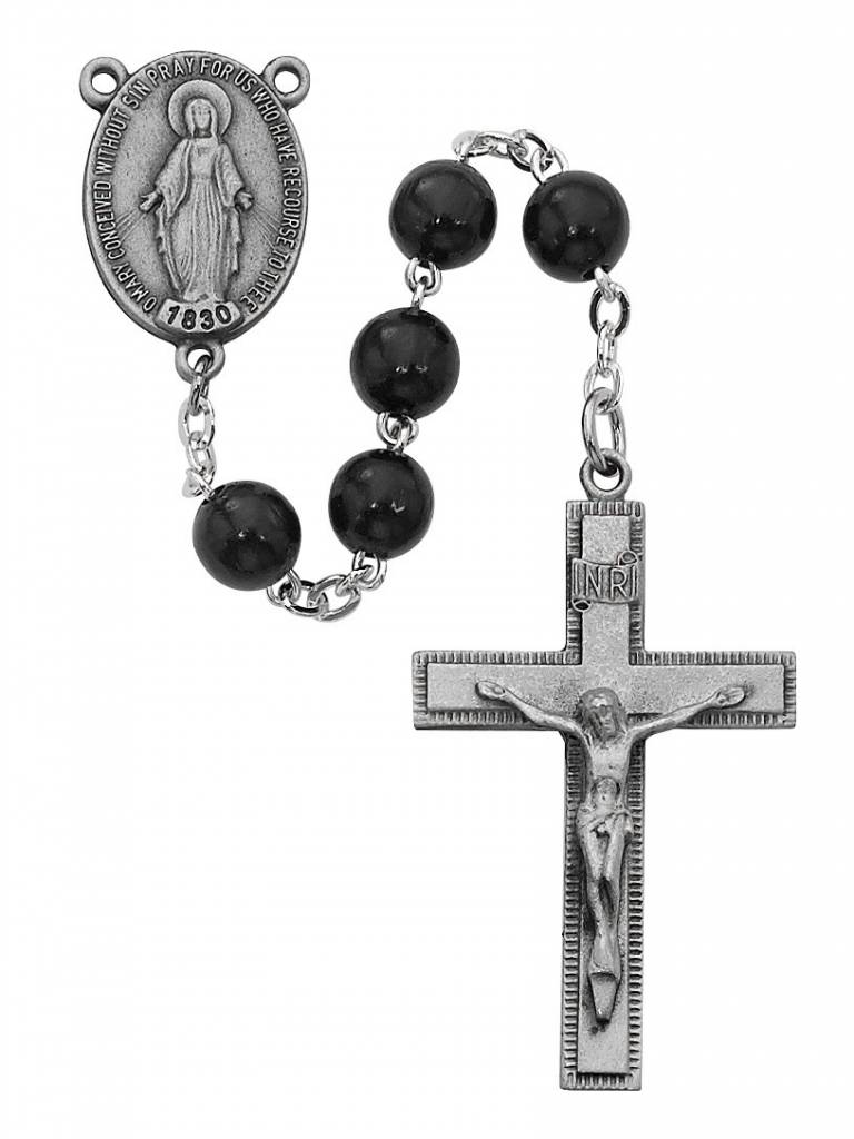 McVan 7mm Black Wood Rosary