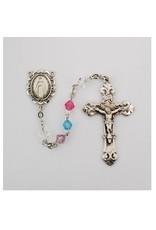 McVan Rhodium Multi Color Swarovski Bead Rosary