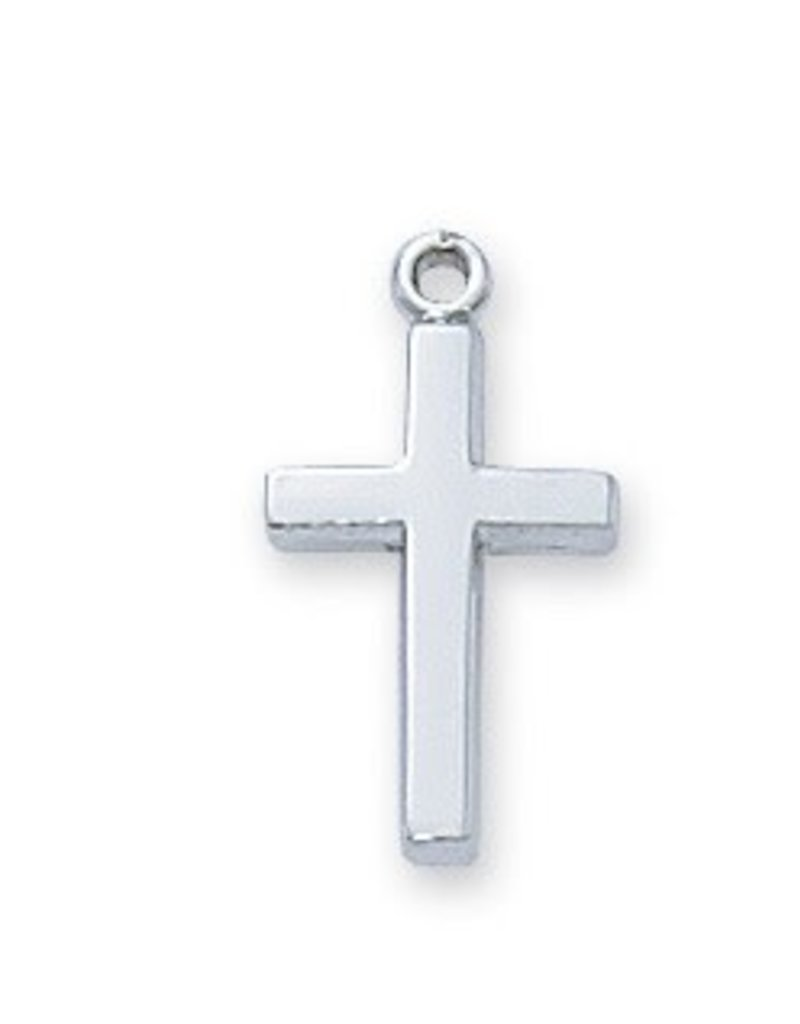 """McVan Sterling Silver Baby Cross on 13"""" Chain"""