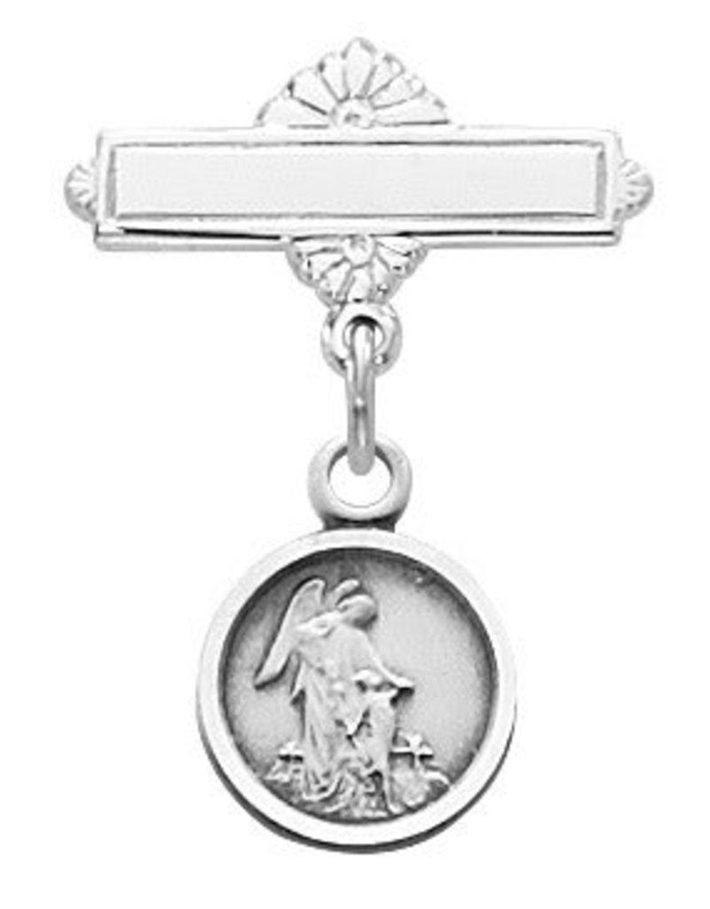 McVan Sterling Silver Guardian Angel Baby Pin