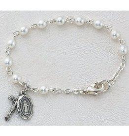 McVan Sterling Silver Baby Glass Pearl Bracelet