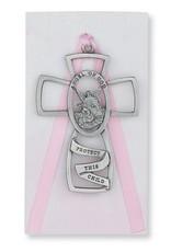 McVan Guardian Angel Cross Pink Card