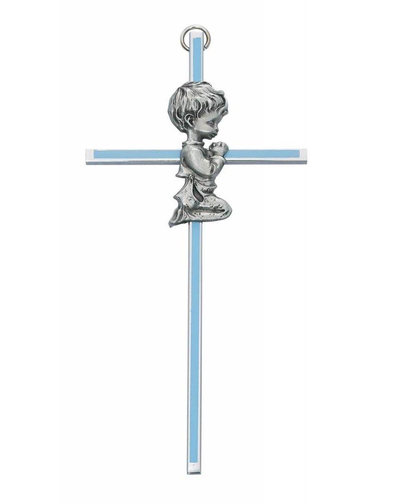 "McVan 6"" Boy Praying Blue Cross"