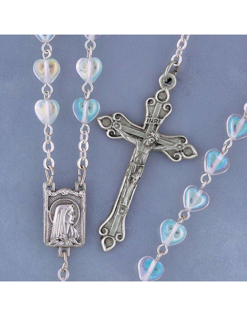 Devon Trading Company Heart Shape Crystal Rosary