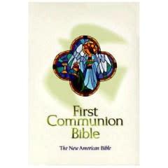 World Catholic Press First Holy Communion Bible - White
