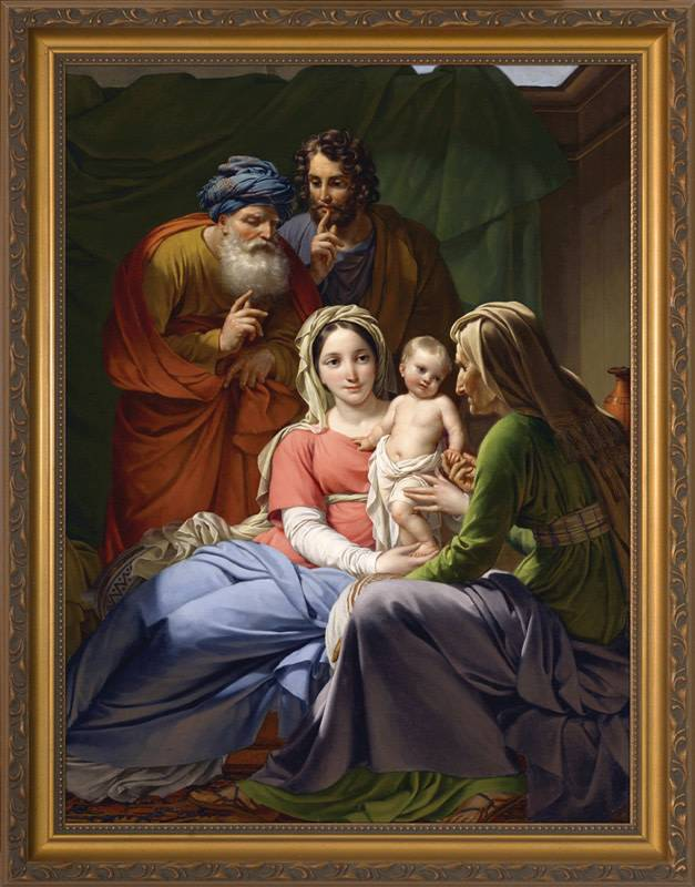 "Nelson Fine Art 8"" x 10"" Holy Family With Grandparents"