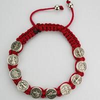 McVan Red St. Benedict Cord Bracelet
