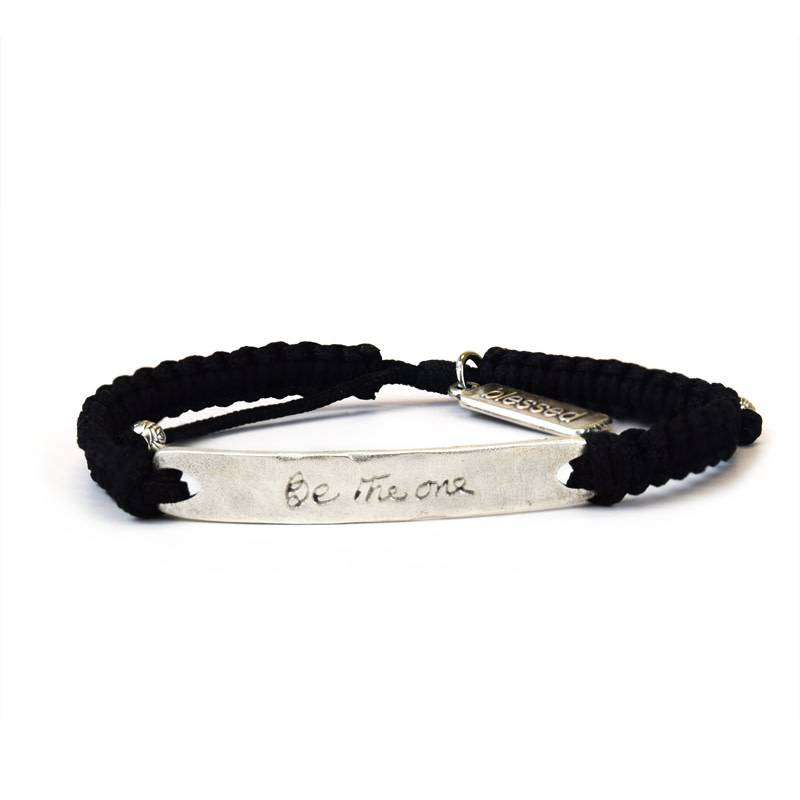 My Saint My Hero Be the One Bracelet Silver and Black