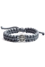 My Saint My Hero One Blessing Bracelet Slate and Silver