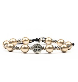 My Saint My Hero Divine Beauty Beautiful Blessing Bracelet Platinum/Silver