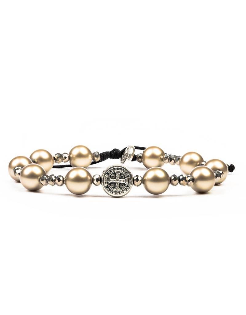 My Saint My Hero Divine Beauty Beautiful Blessing Bracelet Platinum/Silver