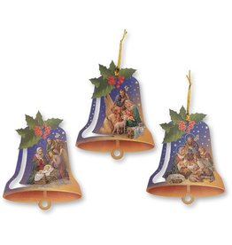 WJ Hirten Nativity Bell Shaped Ornament (Single Ornament, Assorted Style)