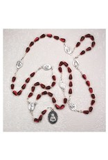 McVan Seven Sorrows Chaplet with Red Tear Drop Shaped Beads