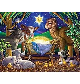Vermont Christmas Company A Child is Born Jigsaw Puzzle