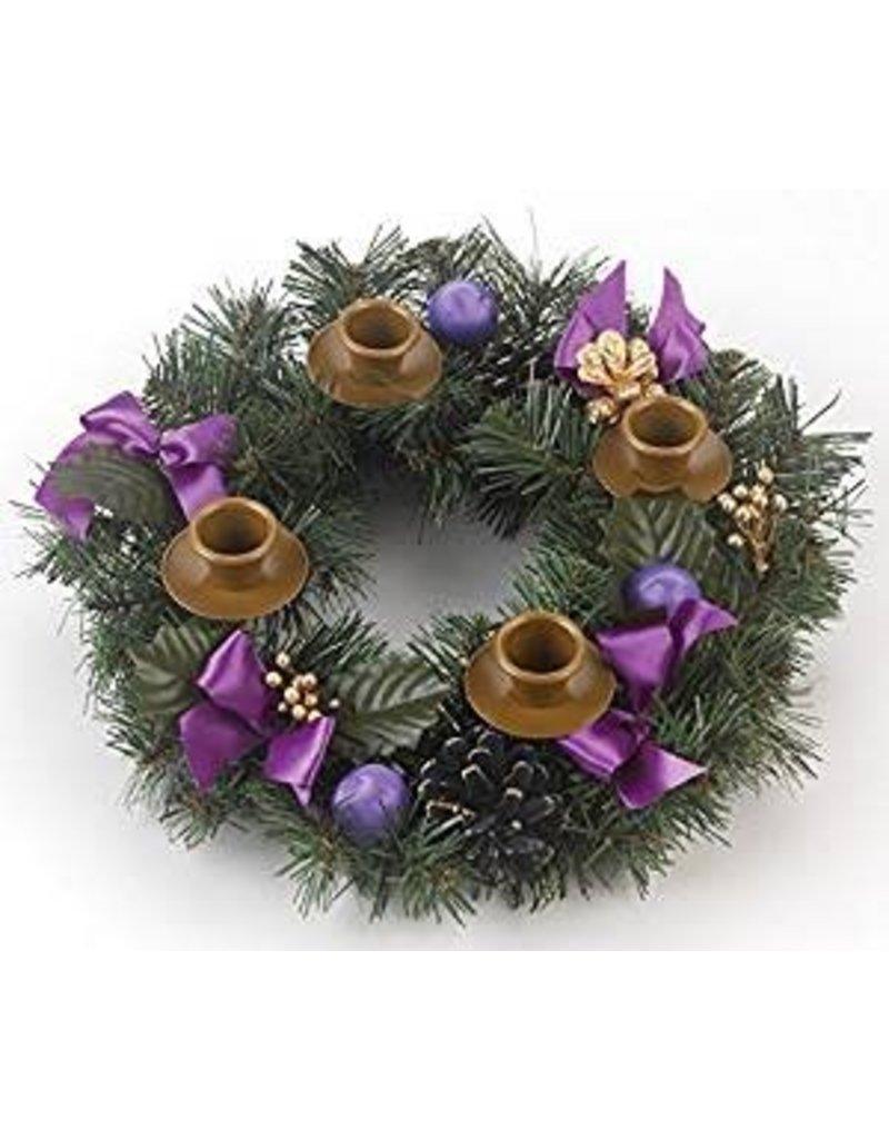 Vermont Christmas Company Purple Ribbon Advent Wreath