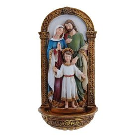 Roman, Inc Holy Family Holy Water Font