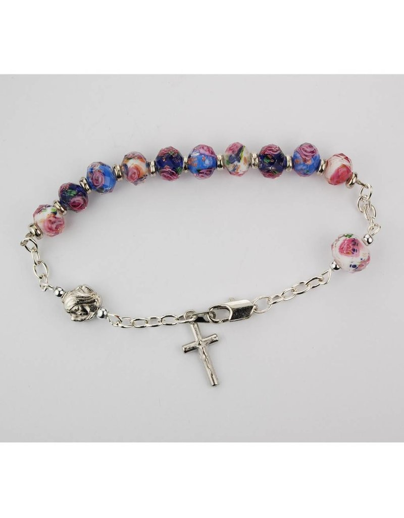 McVan Multi Color Real Crystal Bead Rosary Bracelet