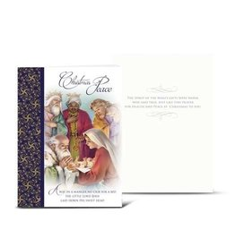 WJ Hirten Christmas Card With Holy Family And Magi