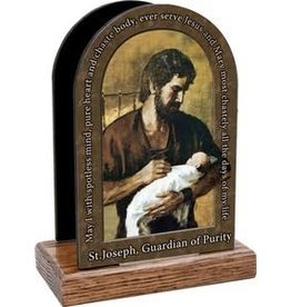 Nelson Fine Art St. Joseph Guardian of Purity Prayer Table Organizer