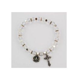 McVan Crystal Rosary Stretch Bracelet