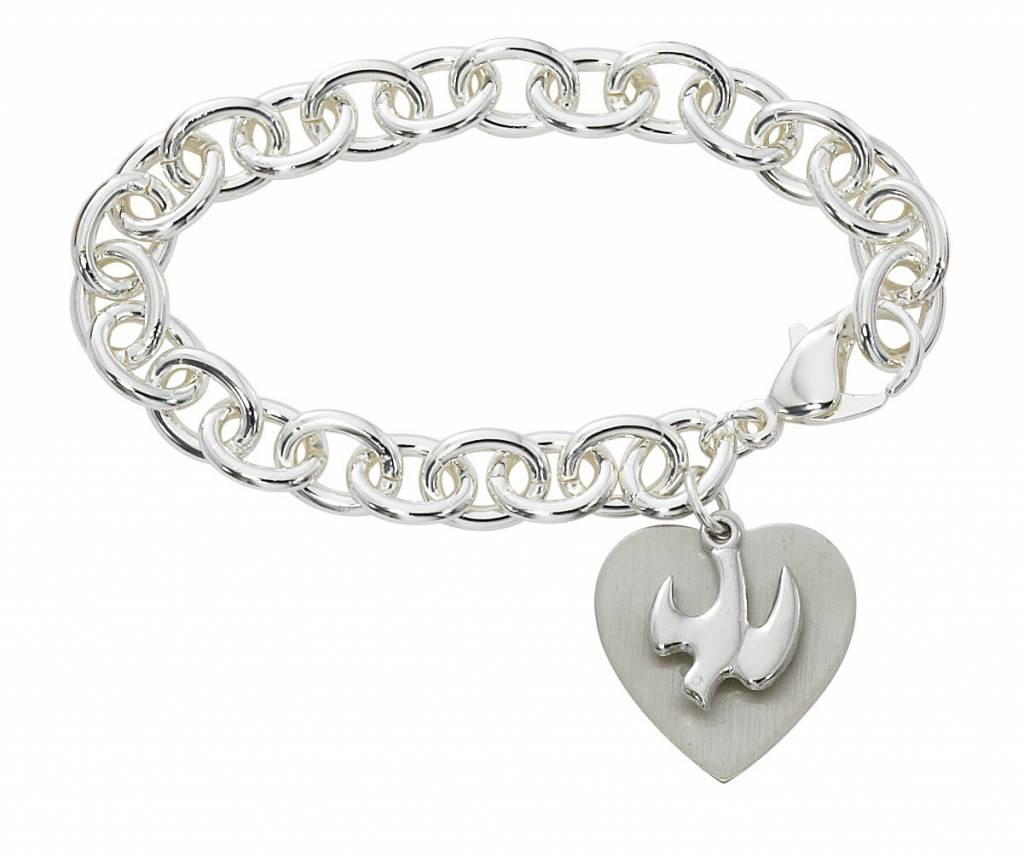 "McVan 7 1/2"" Heart and Dove Bracelet"