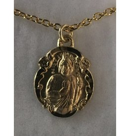 Gold filled St. Jude Medal on Chain