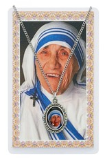 McVan St. Teresa of Calcutta Photo Pewter Pendant with Prayer Card