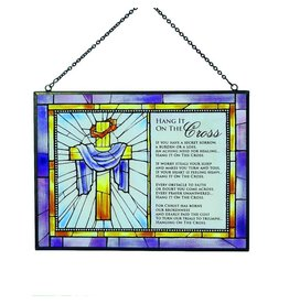 Cathedral Art Hang It On The Cross Prayer Poem Stained Glass Plaque