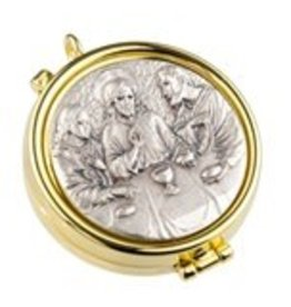 WJ Hirten Gold Last Supper Pyx with Silver Oxidized Insert