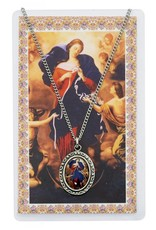 McVan Our Lady Undoer of Knots Photo Pewter Pendant with Prayer Card
