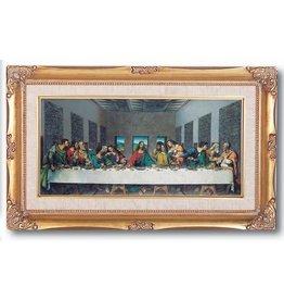 "WJ Hirten 11"" x 19"" The Last Supper by Da Vinci with Gold Frame"