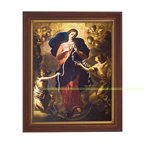"Christian Brands 10 x 12.5"" Mary, Untier of Knots Framed Print"