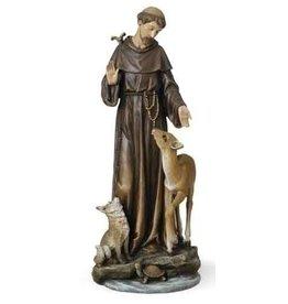 "Roman, Inc 14"" St. Francis with Animals"