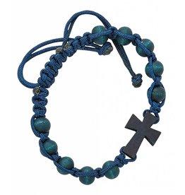 McVan Blue Corded Cross Bracelet