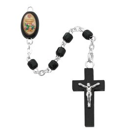 McVan Black Wood Communion Rosary with Chalice Centerpiece