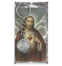 McVan Sacred Heart of Jesus Key Ring with Prayer Card