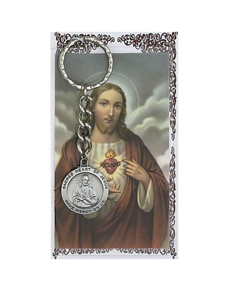 McVan Sacred Heart of Jesus Key Ring with Prayer Card
