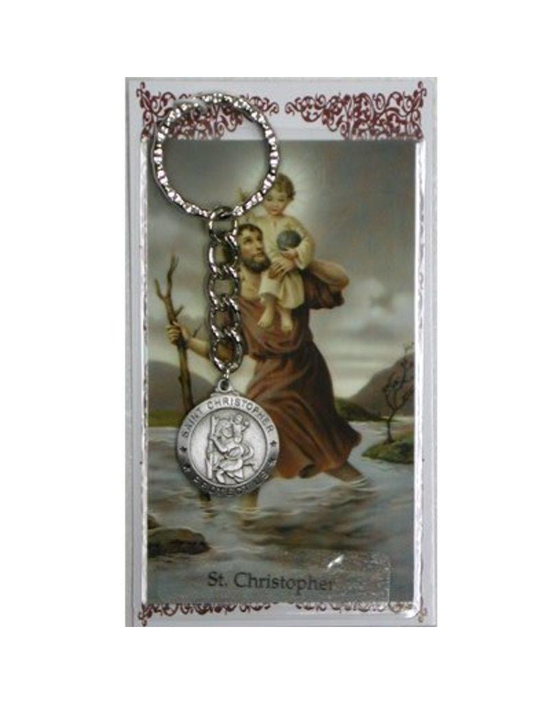 McVan St. Christopher Key Ring with Prayer Card